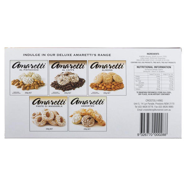 Crostoli King Amaretti Almond Flakes 200g , Grocery-Biscuits - HFM, Harris Farm Markets  - 2