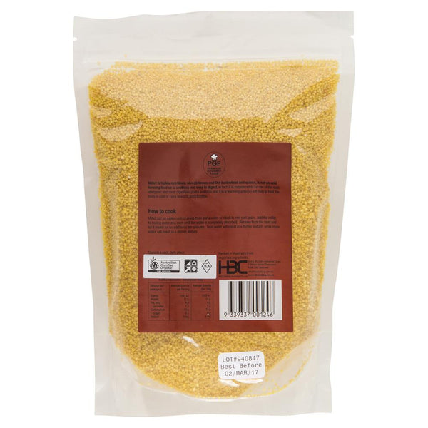 Chef's Choice Certified Organic Hulled Millet 500g , Grocery-Nuts - HFM, Harris Farm Markets  - 2