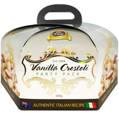 Crostoli King - Biscuits Vanilla Crostoli - Party Pack (500g)