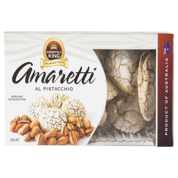 Crostoli King Amaretti Al Pistaccchio 200g , Grocery-Confection - HFM, Harris Farm Markets  - 1
