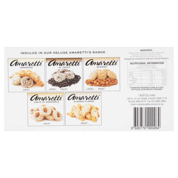 Crostoli King Amaretti Al Pistaccchio 200g , Grocery-Confection - HFM, Harris Farm Markets  - 2