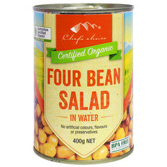Chef's Choice - Organic 4 Bean Salad - In Water | Harris Farm Online