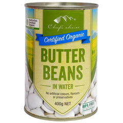 Chef's Choice - Organic Butter Beans - In Water | Harris Farm Online