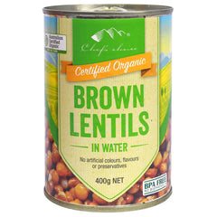 Chef's Choice - Organic Brown Lentils - In Water | Harris Farm Online