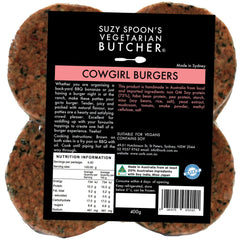 Suzy Spoons - Burger Patties - Rosemary & Garlic (4 burgers, 400g)
