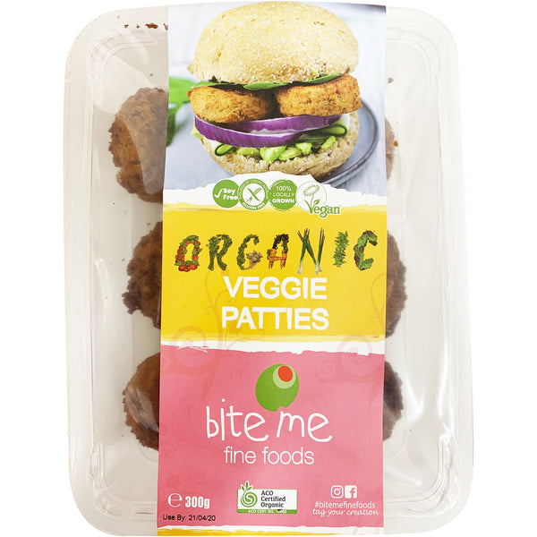 Bite Me Fine Foods - Patties Organic - Veggie