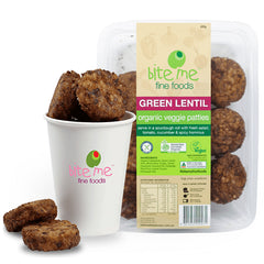 Bite Me Fine Foods Organic Green Lentil Patties 225g