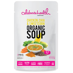 Celebrate Health - Organic Soup - Chicken, Chia & Sweetcorn (400g)