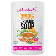 Celebrate Health - Organic Soup - Pumpkin and Sweet Potato (400g)