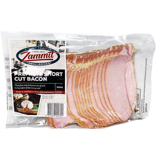 Bacon - Premium Shortcut (500g) Zammit