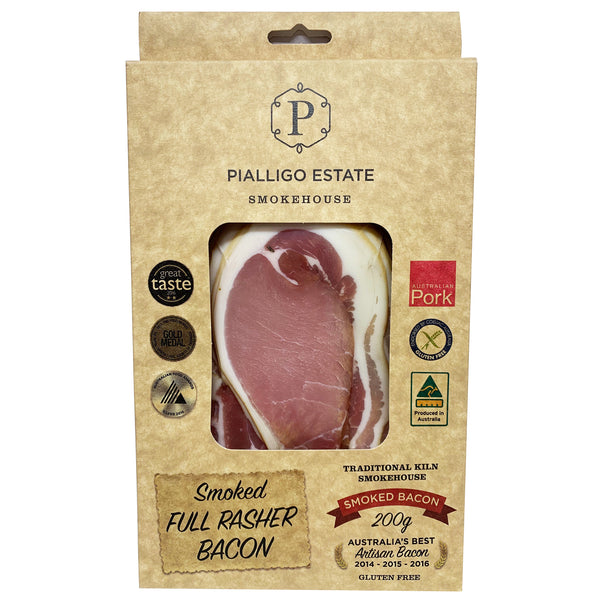 Bacon - Smoked Full Rasher (200g) Pialligo Estate