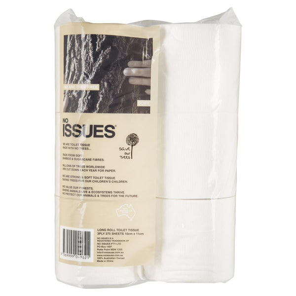 No Issues Tree Free Toilet Tissue 275 Sheets , Grocery-Cleaning - HFM, Harris Farm Markets  - 2