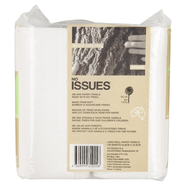 No Issues Tree Free Paper Towels 120 Sheets , Grocery-Cleaning - HFM, Harris Farm Markets  - 2