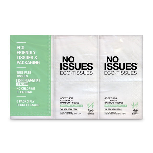 No Issues - Tissues (3ply 10sheets, 6pk)