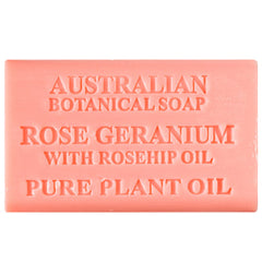 Australian Botanical Soap Rose Geranium with Rosehip Oil 200g