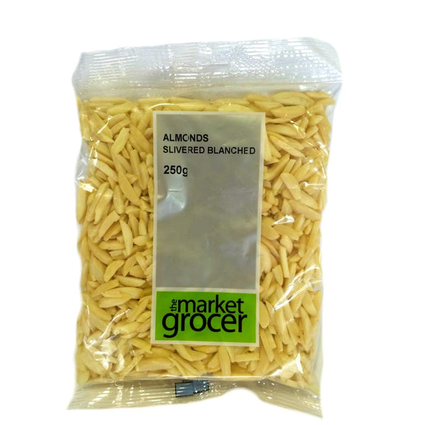 Market Grocer Almond Slivers 250g , Grocery-Nuts - HFM, Harris Farm Markets