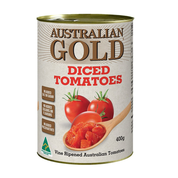 Diced Tomatoes 400g Australian Gold , Grocery-Can Veg - HFM, Harris Farm Markets
