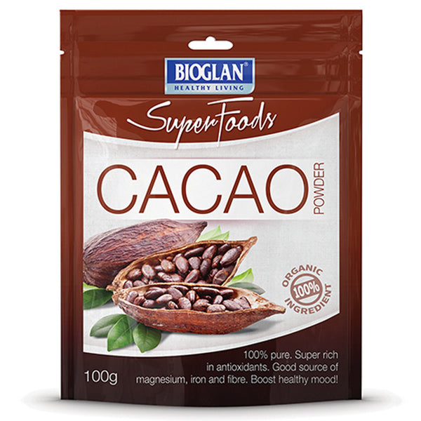 Bio Glan Super Foods Cacao Powder 100g , Grocery-Cooking - HFM, Harris Farm Markets