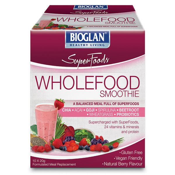 Bio Glan Super Foods Wholefood Smooth Berry 10x20g , Grocery-Condiments - HFM, Harris Farm Markets