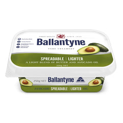 Butter Spreadable Lighter Avocado Oil 250g Ballantyne , Frdg2-Dairy - HFM, Harris Farm Markets