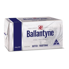 Butter Block Salted Traditional 250g Ballantyne , Frdg2-Dairy - HFM, Harris Farm Markets