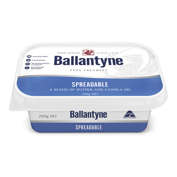 Butter Spreadable Traditional 250g Ballantyne , Frdg2-Dairy - HFM, Harris Farm Markets
