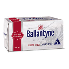 Butter Block Unsalted Cultured 250g Ballantyne , Frdg2-Dairy - HFM, Harris Farm Markets