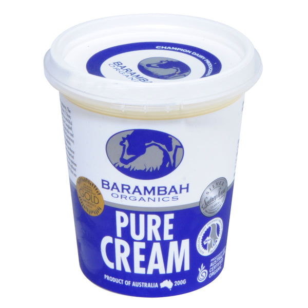 Barambah Organics Pure Cream 200ml , Frdg2-Dairy - HFM, Harris Farm Markets