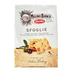 Barilla Mulino Bianco - Biscuits Sfoglie - Crackers with Black & Green Olives (160g)