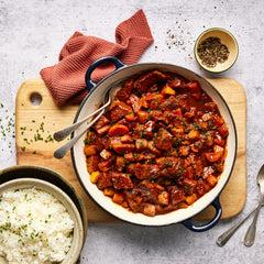 Beef Goulash - with Rice