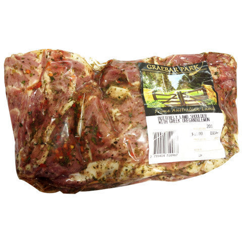 Lamb Shoulder Butterflied Oregeno & Lemon 1.2-1.9kg , Frdg5-Meat - HFM, Harris Farm Markets