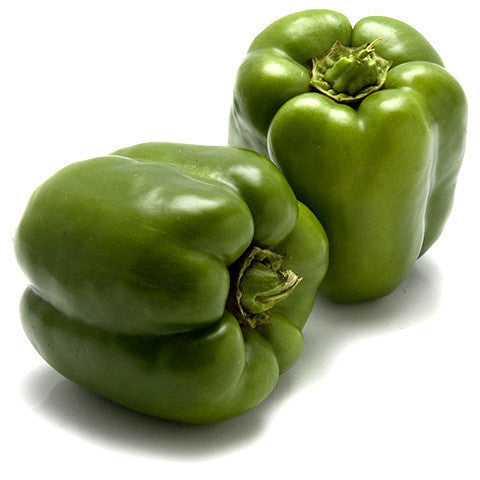Capsicum Green (8kg Box) , Whsl-Veg - HFM, Harris Farm Markets