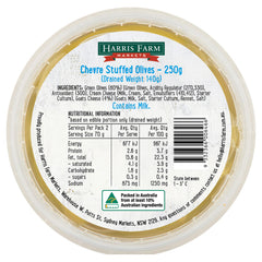 Harris Farm Olives Chevre Stuffed 250g