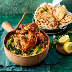 Lime and Spinach Dahl - Oregano Grilled Chicken