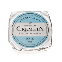 Brie - Double Cream - Prepacked Wheel (125g) Cremeux