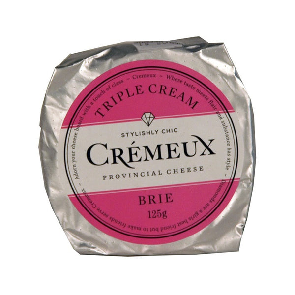Brie - Triple Cream - Prepacked Cheese Wheel (125g) Cremeux
