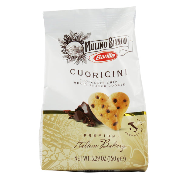 Barilla Mulino Bianco - Biscuits Cuoricini - Chocolate Chip Heart Cookies (150g)