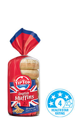 Tip Top - Bread English Muffins - Original (6pk, 400g)