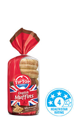 Tip Top - Bread English Muffin - Wholemeal (6pk)
