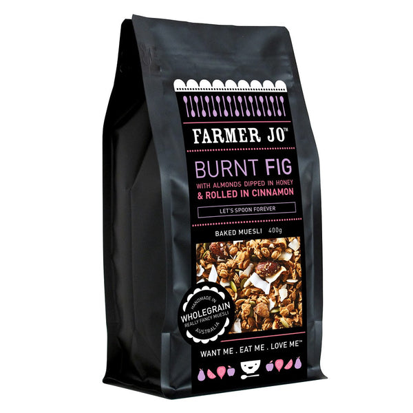 Muesli Burnt Fig Cin Almond 400g Farmer Joe , Grocery-Cereals - HFM, Harris Farm Markets
