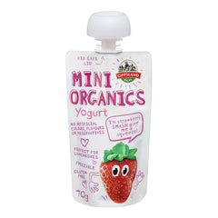 Gippsland Organic Yoghurt Strawberry 70g , Frdg2-Dairy - HFM, Harris Farm Markets