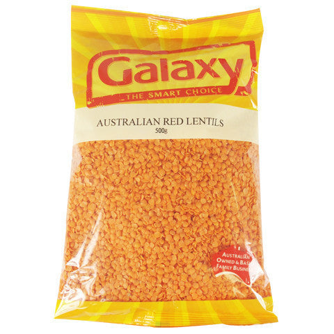 Galaxy Red Lentils 500g , Grocery-Dry Goods - HFM, Harris Farm Markets