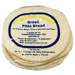 Golden Top Pita Bread 10pk , Z-Bakery - HFM, Harris Farm Markets