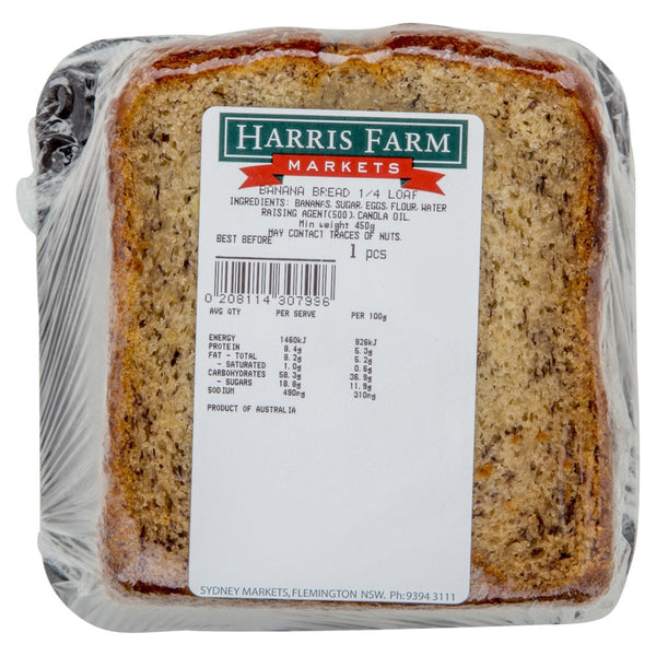 Harris Farm Banana Bread qtr loaf , Z-Bakery - HFM, Harris Farm Markets
