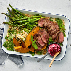 Zaatar Lamb Backstrap - with Beets and Cous Cous