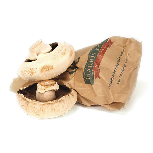 Mushrooms Flat (min 400g loose) , S12S-Veg - HFM, Harris Farm Markets