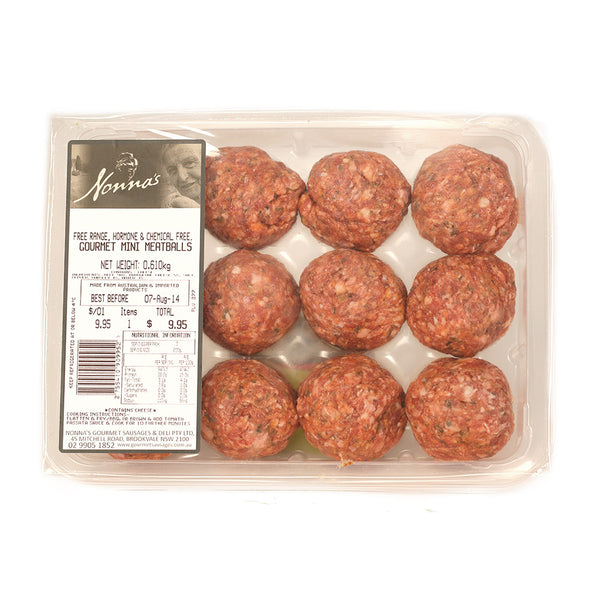 Beef - Mini Meatballs (400g) Nonna , Frdg5-Meat - HFM, Harris Farm Markets