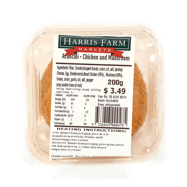 Harris Farm Arancini Chicken and Mushroom 300g , Frdg3-Meals - HFM, Harris Farm Markets