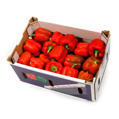 Capsicum Red (box 5kg) , Wholesale - HFM, Harris Farm Markets