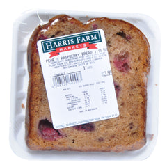 Harris Farm Pear & Raspberry Bread slice , Z-Bakery - HFM, Harris Farm Markets